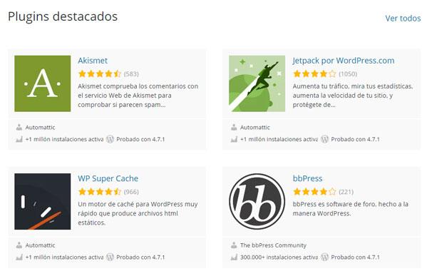 Repositorio Oficial de Plugins de WordPress