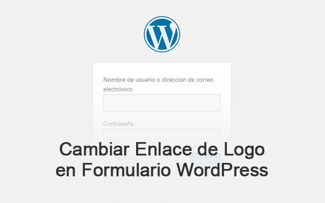 Cambiar Enlace de Logo de Formulario de Acceso en WordPress