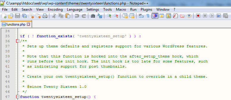 Editar archivos WordPress con Notepad++