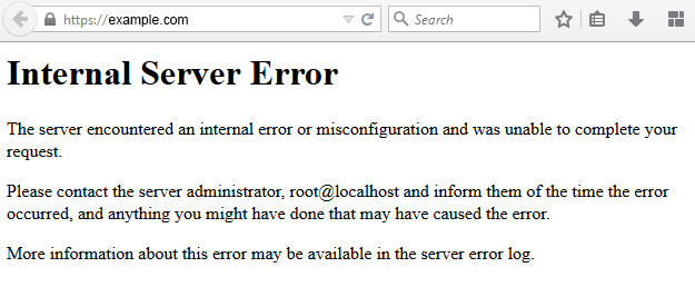Mensaje de 500 Error Internal Server Error en WordPress