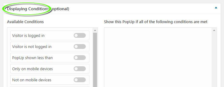 Mostrar ventana emergente en WordPress en determinadas condiciones con WordPress PopUp