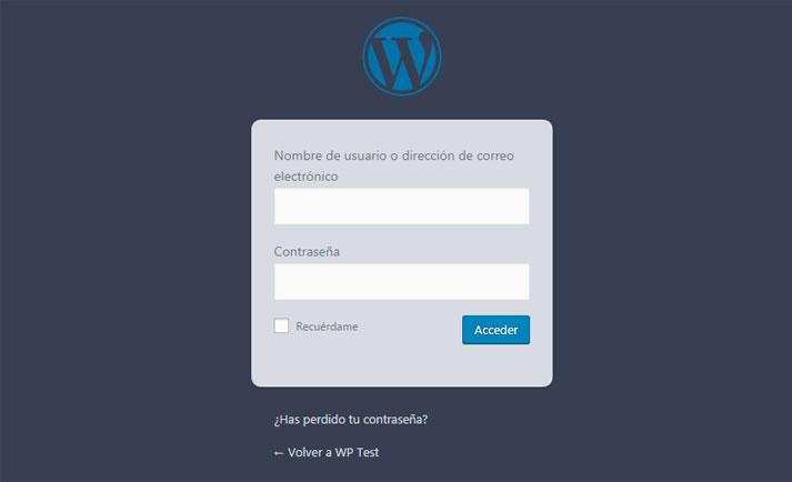 Personalizar estilo de formulario de acceso con CSS en WordPress