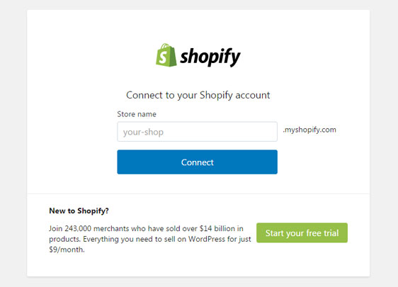 Conectar Shopify con tu sitio web WordPress
