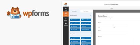 El Plugin WPForms para crear formularios en WordPress