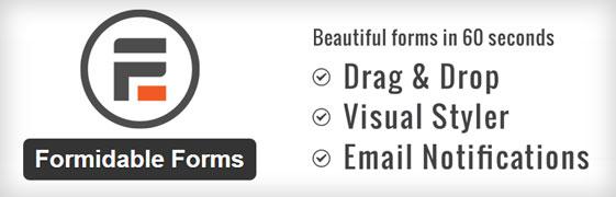 El plugin Formidable Forms para crear formularios en WordPress