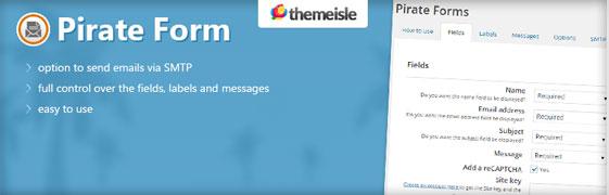 El plugin Pirate Form para crear formularios en WordPress