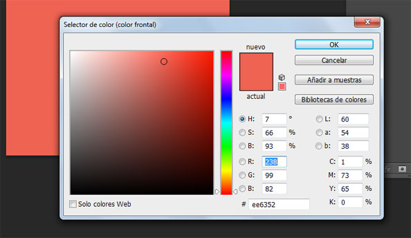 Seleccionar Color HEX en Photoshop