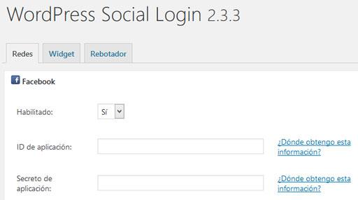 Ajustes del plugin WordPress Social Login de WordPress para compartir contenido en redes sociales