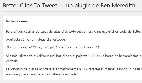 Plugin Better Click To Tweet de WordPress para compartir contenido en redes sociales