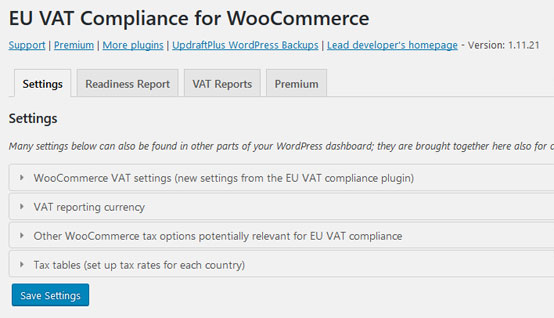 Plugin WooCommerce EU VAT Compliance