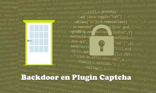 Problema de Seguridad Backdoor en el Plugin Captcha en WordPress