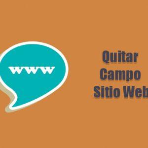 Quitar Campo de Sitio Web del Fomulario de Comentarios
