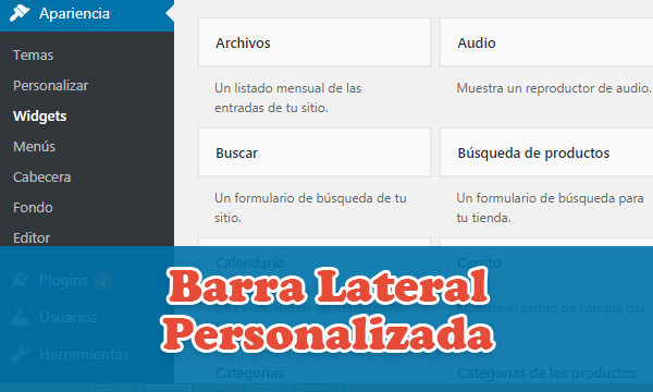 Crear una barra lateral personalizada con un plugin en WordPress