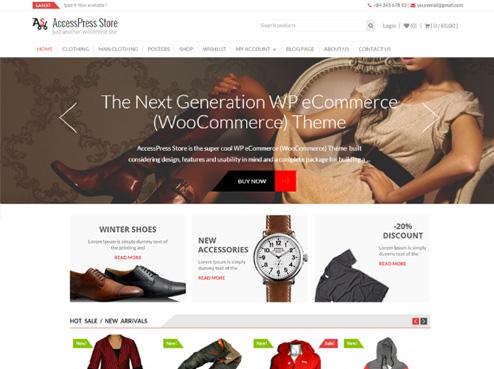 Tema AccessPress Store para tienda virtual de WooCommerce