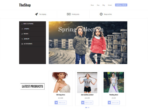 Tema TheShop para tienda virtual de WooCommerce