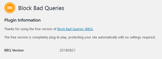 Plugin Block Bad Queries para bloquear solicitud URL maliciosa en WordPress
