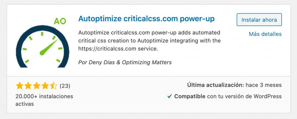 Optimización de la entrega de CSS de WordPress con Autoptimize