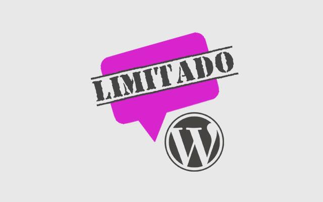 Como limitar longitud comentario wordpress