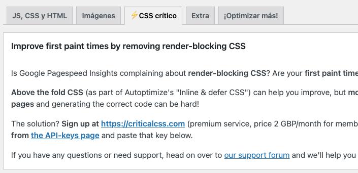 Critical CSS
