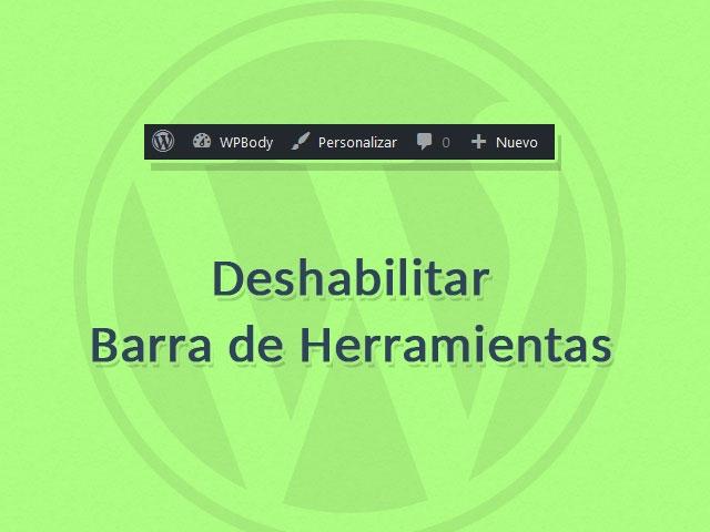 Deshabilitar Barra de Administración en WordPress