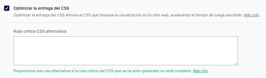 Optimizar la entrega de CSS
